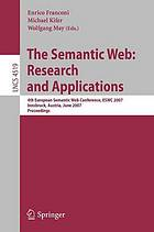 The semantic web : research and applications ; proceedings