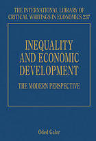 Inequality and economic development : the modern perspective