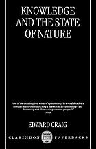 Knowledge and the state of nature : an essay in conceptual synthesis.