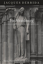 For Strasbourg : conversations of friendship and philosophy