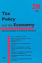 Tax policy and the economy 20