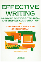 Effective writing : improving scientific, technical, and business communication