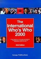 The international who's who 2000.
