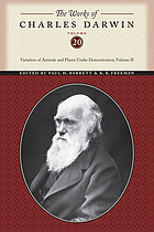The works of Charles Darwin / Vol. 19-20, Variation of animals and plants under domestication.