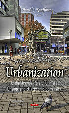 Urbanization : global trends, role of climate change and effects on biodiversity