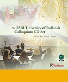The ESRI/University of Redlands Colloquium CD set