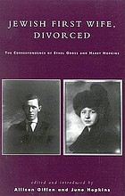 Jewish first wife, divorced : the correspondence of Ethel Gross and Harry Hopkins