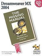 Dreamweaver MX 2004 : the missing manual