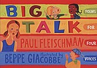 Big talk : poems for four voices