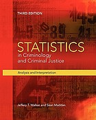 Statistics in Criminology and Criminal Justice: Analysis and Interpretation cover image