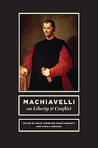 Machiavelli on Liberty and Conflict.