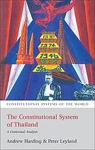 The constitutional system of Thailand : a contextual analysis