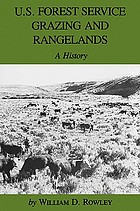 U.S. Forest Service grazing and rangelands : a history