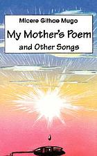 My mother's poem and other songs : songs and poems