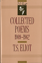 Collected poems, 1909-1962.