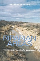 Riparian areas : functions and strategies for management