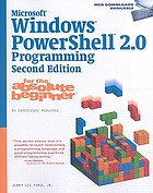 Microsoft Windows Powershell 2.0 programming for the absolute beginner