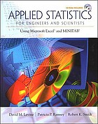 Applied statistics for engineers and scientists : using Microsoft Excel and MINITAB