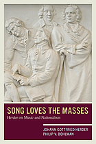 Song loves the masses : Herder on music and nationalism