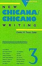 New chicana/chicano writing; 3; ed. by charles m. tatum.