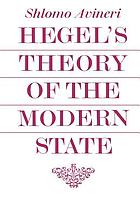 Hegel's theory of the modern state.