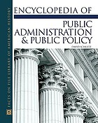 Encyclopedia of Public Administration and Public Policy cover image