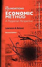 Foundations of economic method : a Popperian perspective