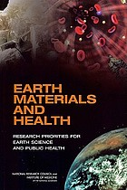 Earth materials and health : research priorities for earth science and public health