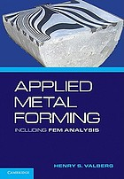 Applied metal forming : including FEM analysis