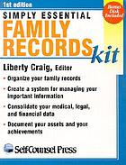 Simply essential family records kit