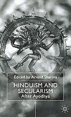Hinduism and secularism : after Ayodhya