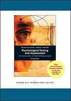 Psychological testing and assessment : an introduction to tests & measurement