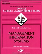Subject examination in-- management information systems : questions and answers.