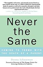 Never the same : coming to terms with the death of a parent