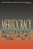 Meritocracy and economic inequality