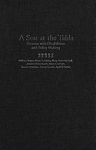 A seat at the table : persons with disabilities and policy making