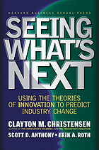 Seeing what's next? : using the theories of innovation to predict industry change.