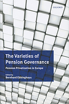 The varieties of pension governance : pension privatization in Europe
