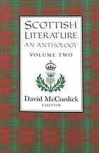Scottish literature : an anthology