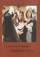 University of London academic dress
