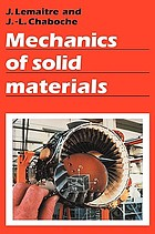 Mechanics of solid materials