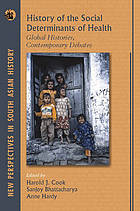 History of the social determinants of health : global histories, contemporary debates