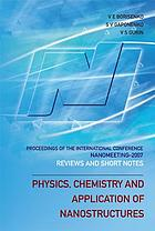 Physics, chemistry and application of nanostructures : reviews and short notes : proceedings of the international conference, Nanomeeting-2007, Minsk, Belarus, 22-25 May 2007