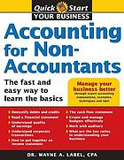 Accounting for non-accountants : the fast and easy way to learn the basics