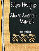Subject headings for African-American materials