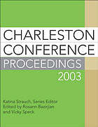 Charleston Conference proceedings, 2003