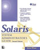 Solaris system administrator's guide