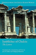 Iamblichus of Chalcis : the letters