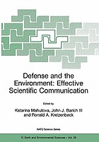 Defense and the environment : effective scientific communication