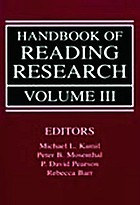 Handbook of reading research : Volume lll